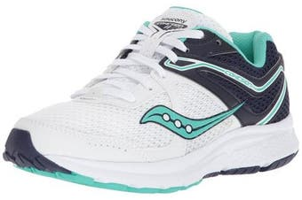 (12 B(M) US, White/Teal) - Saucony Women's Cohesion 11 Running Shoe