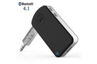 Giveet Bluetooth Audio Receiver with Microphone, Mini Wireless Aux Adapter for Car Kit Handsfree Calling, Home Stereo, Wired Headphones/Speakers Music Streaming Sound System, Extra 12 Hours Playtime