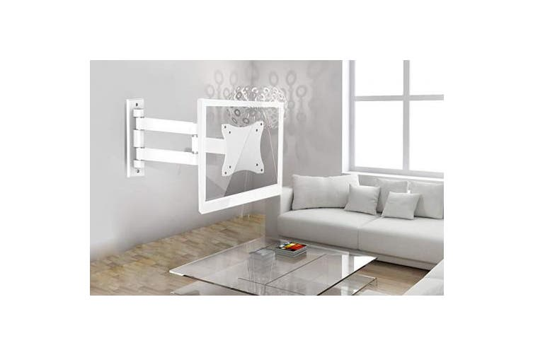 (Heavy Duty Swing Arm 13-28 - White) - Proper P-SWBLCDW-1 Heavy Duty Swing Arm Wall TV Bracket for 33cm 48cm 60cm 60cm 60cm and 70cm LCD or LED TV's - White