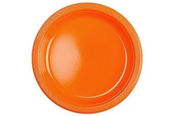 (Orange) - Amscan International 552285-05 Plate Plastic SCPLATE plas 22.8cm:Orange pl