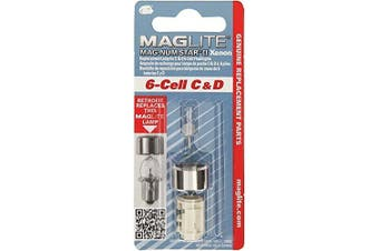 (C & D, 4) - Maglite Replacement Lamp for 4-Cell C & D Flashlight, 1 pk