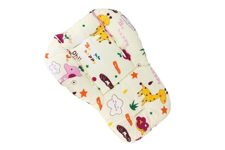 Baby Stroller/Car/High Chair Seat Cushion Liner Mat Pad Cover Protector Breathable(Giraffe)