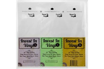 50 Master Sleeves Rice Paper Anti Static LP Inner Sleeves Vinyl Record Sleeves Provide Your LP Collection with the Proper Protection - Invest In Vinyl