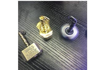 (Gold&bronze) - Mjolnir Keychain Cool Thor's Hammer Snitch Fidget Spinner Hand Finger Spinner Focus Copper Stainless Steel Metal Fingertip Gyro Stress Relief ADHD EDC Fun Toy Best Gift For Kids Adults Friends(2PCS)