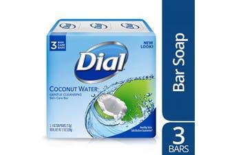 (Coconut Water, 3 Bars) - Dial Skin Care Bar Soap, Coconut Water, 120ml, 3 Bars