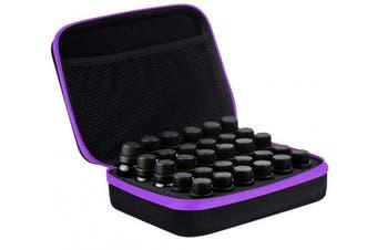 (Purple) - Kapmore Essential Oil Bag Essential Oil Case 30 Bottles Oil Holder Hard Shell Bottle Carrying Case for Travel