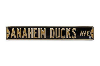 (Anaheim Ducks, 90cm  x 15cm ) - Authentic Street Signs NHL Officially Licenced, REAL 0.9m, Premium Grade Solid Steel Embossed STREET SIGN- Prime Wall Decor for Home, Office, Man Cave- Perfect Gift for Him!!