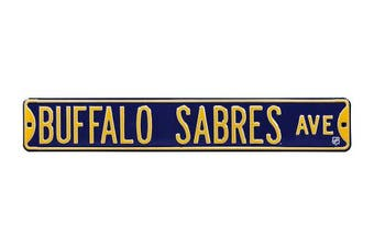 (Buffalo Sabres, 90cm  x 15cm ) - Authentic Street Signs NHL Officially Licenced, REAL 0.9m, Premium Grade Solid Steel Embossed STREET SIGN- Prime Wall Decor for Home, Office, Man Cave- Perfect Gift for Him!!