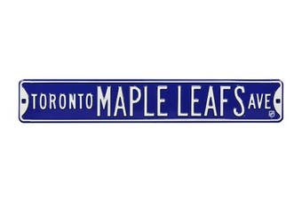 (Toronto Maple Leafs, 90cm  x 15cm ) - Authentic Street Signs NHL Officially Licenced, REAL 0.9m, Premium Grade Solid Steel Embossed STREET SIGN- Prime Wall Decor for Home, Office, Man Cave- Perfect Gift for Him!!