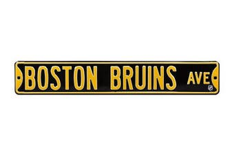 (Boston Bruins, 90cm  x 15cm ) - Authentic Street Signs NHL Officially Licenced, REAL 0.9m, Premium Grade Solid Steel Embossed STREET SIGN- Prime Wall Decor for Home, Office, Man Cave- Perfect Gift for Him!!