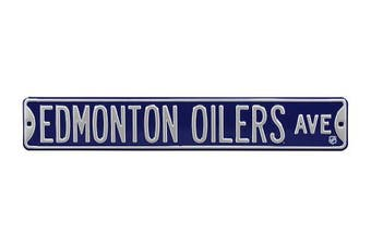 (Edmonton Oilers, 90cm  x 15cm ) - Authentic Street Signs NHL Officially Licenced, REAL 0.9m, Premium Grade Solid Steel Embossed STREET SIGN- Prime Wall Decor for Home, Office, Man Cave- Perfect Gift for Him!!