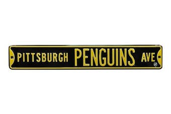 (Pittsburgh Penguins, 90cm  x 15cm ) - Authentic Street Signs NHL Officially Licenced, REAL 0.9m, Premium Grade Solid Steel Embossed STREET SIGN- Prime Wall Decor for Home, Office, Man Cave- Perfect Gift for Him!!