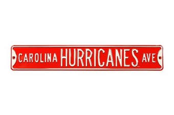 (Carolina Hurricanes, 90cm  x 15cm ) - Authentic Street Signs NHL Officially Licenced, REAL 0.9m, Premium Grade Solid Steel Embossed STREET SIGN- Prime Wall Decor for Home, Office, Man Cave- Perfect Gift for Him!!
