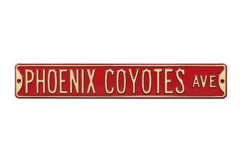 (Phoenix Coyotes, 90cm  x 15cm ) - Authentic Street Signs NHL Officially Licenced, REAL 0.9m, Premium Grade Solid Steel Embossed STREET SIGN- Prime Wall Decor for Home, Office, Man Cave- Perfect Gift for Him!!