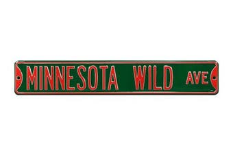 (Minnesota Wild, 90cm  x 15cm ) - Authentic Street Signs NHL Officially Licenced, REAL 0.9m, Premium Grade Solid Steel Embossed STREET SIGN- Prime Wall Decor for Home, Office, Man Cave- Perfect Gift for Him!!