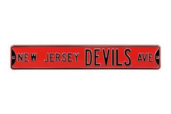 (New Jersey Devils, 90cm  x 15cm ) - Authentic Street Signs NHL Officially Licenced, REAL 0.9m, Premium Grade Solid Steel Embossed STREET SIGN- Prime Wall Decor for Home, Office, Man Cave- Perfect Gift for Him!!