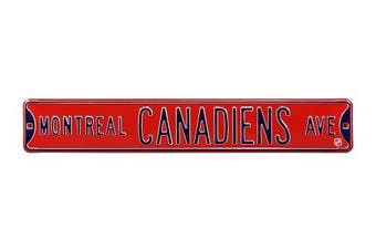 (Montreal Canadiens, 90cm  x 15cm ) - Authentic Street Signs NHL Officially Licenced, REAL 0.9m, Premium Grade Solid Steel Embossed STREET SIGN- Prime Wall Decor for Home, Office, Man Cave- Perfect Gift for Him!!