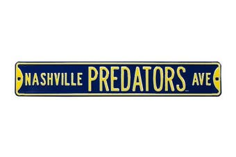 (Nashville Predators, 90cm  x 15cm ) - Authentic Street Signs NHL Officially Licenced, REAL 0.9m, Premium Grade Solid Steel Embossed STREET SIGN- Prime Wall Decor for Home, Office, Man Cave- Perfect Gift for Him!!