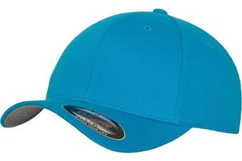 (L-XL, Turquoise - Océan) - Adult Flexfit Woolly Combed Cap