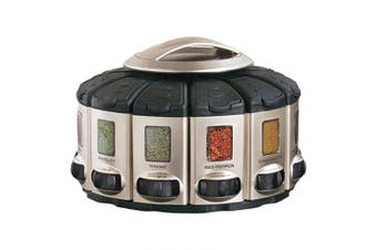 (Select-A-Spice Pro, Satin) - KitchenArt 57010 Select-A-Spice Auto-Measure Carousel Professional Series, Satin