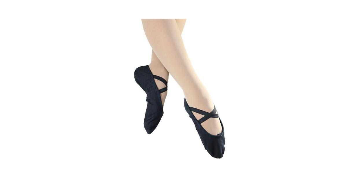 Womens Hanami Canvas Split Sole Ballet Slipper - Shoes