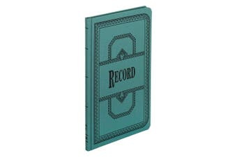Boorum & Pease 66150R Record/Account Book, Record Rule, Blue, 150 Pages, 12 1/8 x 7 5/8