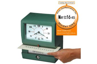 (Model - 150QR4, Month, Date, Hour (0-23), Min) - Acroprint 150QR4 Heavy Duty Automatic Time Recorder, prints Month, Date, Hour (0-23) and Minutes Time Clock