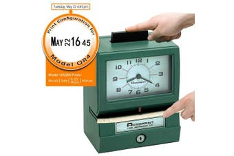 (Model - 125QR4, Month/Date/Hour (0-23)/Min) - Acroprint 011070413 Model 125 Analogue Manual Print Time Clock with Month/Date/0-23 Hours/Minutes