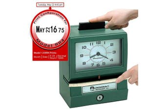 (Model - 125RR4, Month/Date/Hour (0-23)/Hundreths) - Acroprint 125RR4 Heavy Duty Manual Time Recorder for Month, Date, Hour (0-23) and Hundreths Time Clock