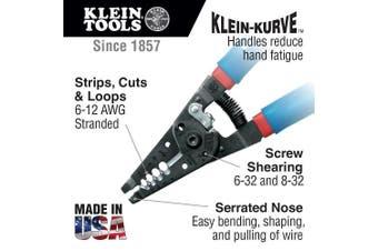 (Klein-Kurve, 6 - 12 AWG Stranded) - Klein Tools 11053 Kurve Wire Stripper/Cutter, ga, Blue, 6-12 AWG Stranded
