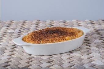 (Small, White) - BIA Cordon Bleu 904996S4SIOC Au Gratin Porcelain Baking Dish, Small, White