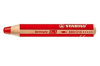 (Red) - Stabilo Woody 3 in 1, Red