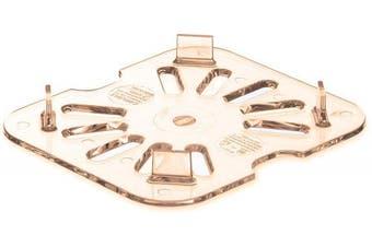 Carlisle 3089613 StorPlus High Heat Drain Shelf, Sixth Size, Amber