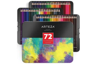 (1 Set) - Arteza Professional Watercolour Pencils (Set of 72)