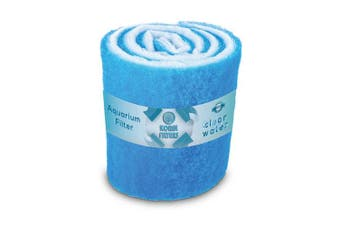 (1.8m wide, Blue) - Koral Filters Aquarium Filter Pad Media Roll - Dye-Free and Blue Bonded - Cut to Fit - Durable - Fish and Reef Aquarium Compatible - Clean Water