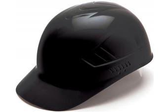 (Black) - Pyramex Ridgeline 4 Point Glide Lock Suspension Bump Cap, Black