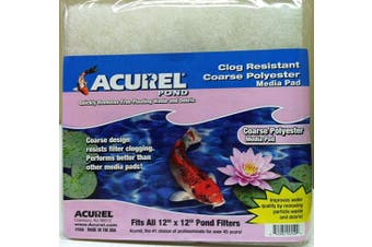(Polyester) - Acurel Coarse Media Pads for Ponds, 30cm by 30cm
