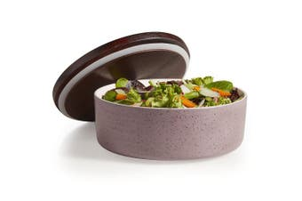 (One Size, Purple) - Libbey Urban Story Large, Purple Ceramic Bowl with Lid