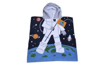 (Astronaut) - Hoomall Hooded Towel Soft Super Absorbent Extra Large 120cm x 60cm , Use for Bath/Pool/Beach Times,Theme Towel for Girls 1 to 6 Years Old Kids Toddlers (Astronaut)