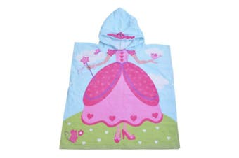 (Crown Girl) - Hoomall Hooded Towel Soft Super Absorbent Extra Large 120cm x 60cm , Use for Bath/Pool/Beach Times,Theme Towel for Girls 1 to 6 Years Old Kids Toddlers (Crown Girl)