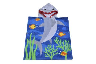 (Shark) - Hoomall Hooded Towel Soft Super Absorbent Extra Large 120cm x 60cm , Use for Bath/Pool/Beach Times,Theme Towel for Girls 1 to 6 Years Old Kids Toddlers (Shark)