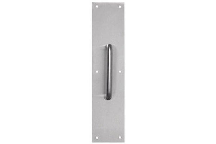 Tell Manufacturing DT100067 Door Pull Plate, Satin Stainless Steel Finish ~ 8.9cm W x 38cm L