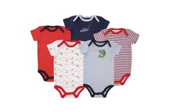 (18-24 Months, Fish 5pk) - Luvable Friends Baby Cotton Bodysuits
