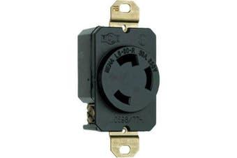(30 Amp, Receptacle) - Legrand-Pass & Seymour L630RCCV3 3-Wire Grounding Locking Receptacle 30 Amp 250-Volt, Black