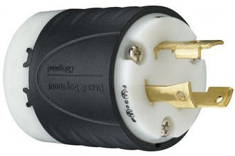 (30 Amp, Plug) - Legrand - Pass & Seymour L630PCCV3 Industrial Specification Grade Turn Lock Plug, 30-Amp 250-volt Two Pole 3 Wire