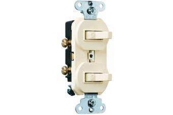 (Light Almond, Grounding 3-Way) - Legrand-Pass & Seymour 696LAGCC6 Combination Grounding and Three Way Switch 15-Amp Light, Almond