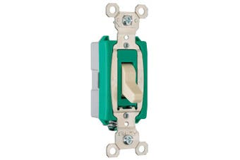 (Single Pole) - Legrand - Pass & Seymour PS30AC1ICC6 30-Amp 120-volt/277-volt Back and Side Wire Commercial Specification Grade Single Pole Switch
