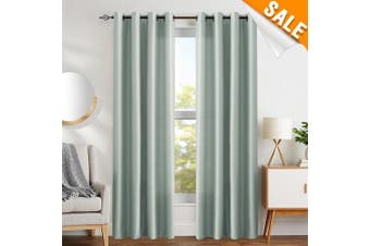 (L63| Grommet, Faux Silk| Grey) - Faux Silk Window Curtains for Living Room 160cm Length Dupioni Grey Curtain Panels for Bedroom Grommet Top Window Treatments Light Filtering Satin Drapes, 1 Pair