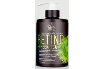 Bloom Retinol + Green Tea Cream Anti-Wrinkle For Fine Lines, Wrinkles, Sun Damaged Skin, Age Spots, Crows Feet. Large 440ml Bottle