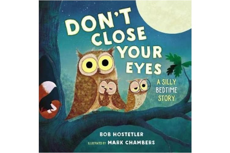 Don't Close Your Eyes: A Silly Bedtime Story [Board book]